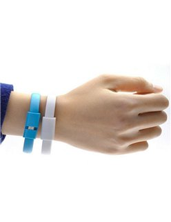 Micro USB Bracelet for Charging/Data Transfer for Smartphone - Fast Shipping