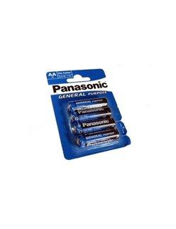 Μπαταριες Panasonic AA Zinc Carbon 4 Τεμάχια